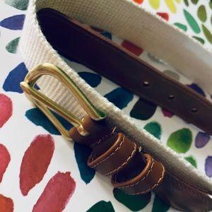*Coach* Linen & Leather Belt